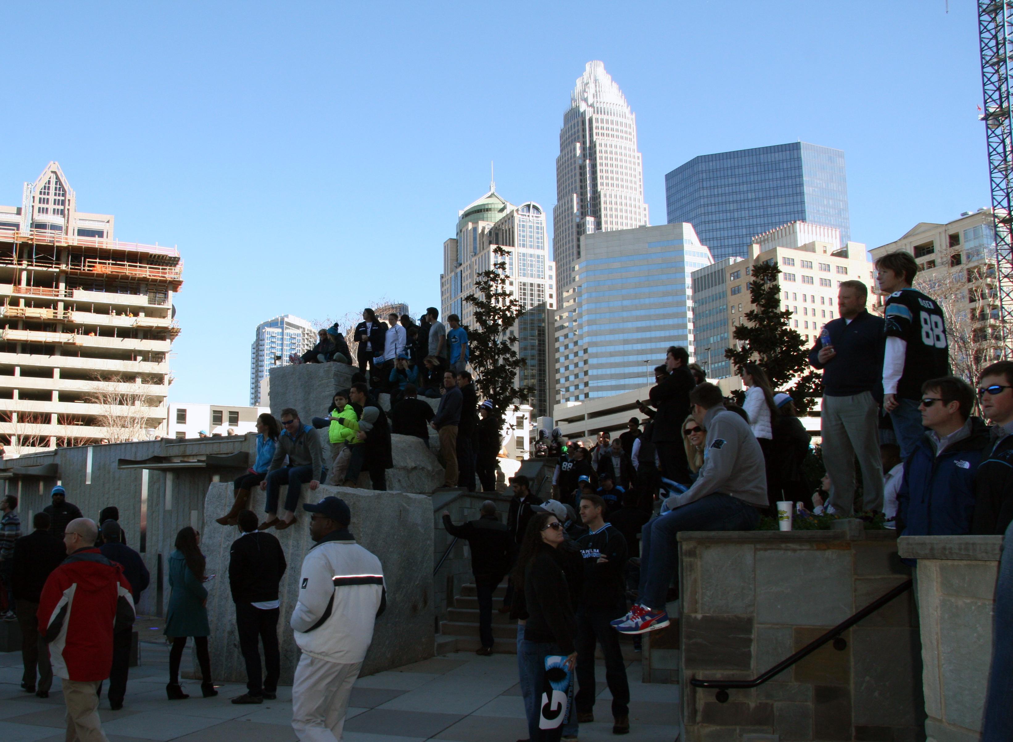 crowd and skyline